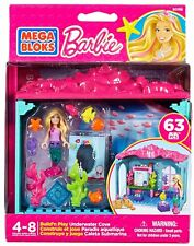 New Mega Bloks Build & Play Mermaid Barbie's Underwater Cove Barbie Playset Toy