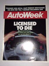 Autoweek Magazine Peugeot 405 Mi16 August 8, 1988 011717RH