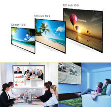 120 Inches 16:9 Portable Front/Rear Polyester Projection Screen for Home Theater