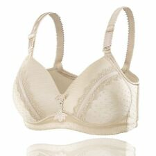 Wow!!! Thin 3/4 Cup Womens Wire Free Push-up Bra Underwear 46D Skin Color