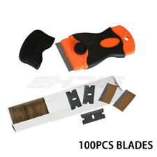 "V6J2 4/"" Scraping Tool Edge Scraper Extendable Grip 1 Blades Sticker Wallp Clean"