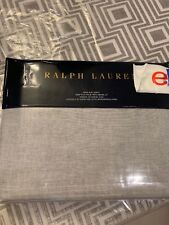Ralph Lauren Cary King Flat Sheet Graphite Gray Retail $185