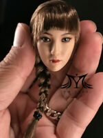 "YMTOYS 1/6 Scale Asian Female Head Carving Suntan Long Braid For 12"" Figure Body"