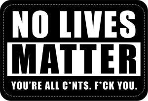 No Lives Matter Morale Patch NLM BLM Funny Humour Hook & Loop Black White Badge
