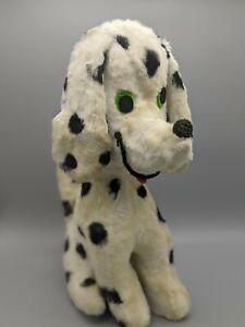"""Vintage 1960s Dardanelle Dakin? Pillow Pets White Dalmatian Plush Dog Puppy 12"""""""