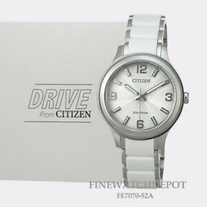 """Authentic Citizen Eco-Drive Women's """"Drive"""" Stainless Steel Watch FE7070-52A"""