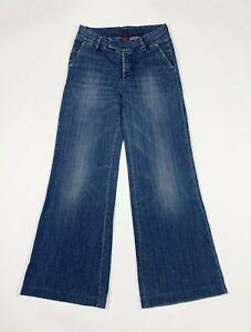 Dondup jeans donna usato gamba larga loose W28 tg 42 campana flared zampa T6660