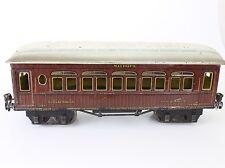 """Marklin Prewar Gauge 1 Red MITROPA Schlafwagen #2064 Passenger Car Tin 13"""""""