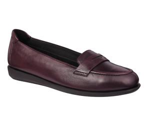 Scholl Phillis Mocassin Style Flat Shoes in Burgundy Wine UK4 EU37 RRP £76.99p