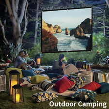16:9 Portable Foldable Projector Screen HD Home Theater Outdoor Camping 3D Movie
