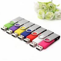 32GB 64GB USB Flash Drives 2.0 Memory Stick Rotate Storage Pen Drive U Disk PC