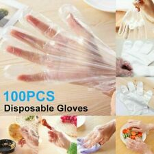 100-1000Pcs LARGE Food Service Gloves Home Plastic Clear PE Safety Work Sanitary