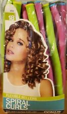 NEW Conair Spiral Curls Flexible Rollers 18 pcs for soft curls that last