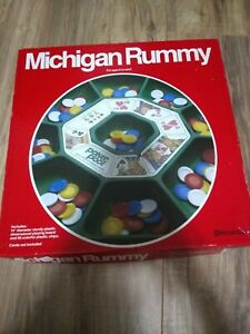Michigan Rummy Classic Board Game Cards Playing Night Party Tripoly Fun Tray