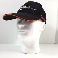 Newegg Cap Mens Black Brushed Cotton Embro w Logo & Red 'Canon' Strapback Hat