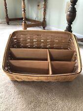 Vintage 2004 Longaberger Large Desktop Basket With Plastic Protector Exc.