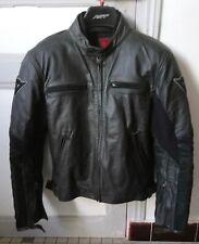 Dainese Stripes Black Leather Jacket (Dainese 52)