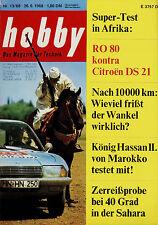 HOBBY 13/68 1968 Citroën DS 21 NSU RO 80 Lockheed c-5 a Galaxy GRUNDIG TK 2400 F