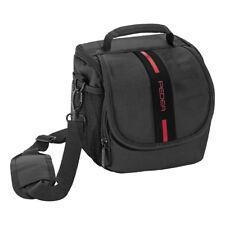 Kameratasche / Fototasche / SLR Tasche mit Regenschutz und Zubehörfächer, rot