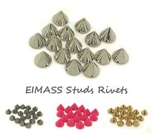 EIMASS® CCB Metallic Finish Acrylic Spike Cone Studs, Beads,Sew / Glue on, 2178