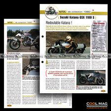 #jbt16.007.b ★ SUZUKI GSX 1100 S KATANA 1980 ★ Fiche Moto Motorcycle Card