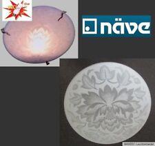 Design Deckenlampe Wandlampe Glas Weiß Blätter Blüten Florentiner Sparlampe E27
