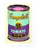Andy Warhol Campbell's Soup Can 1965 green & purple Poster Kunstdruck 36x28cm
