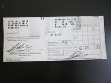 Vlastimil Valek CZ TRANS-AMA 1971 MotoCross Race Entry Winning Receipt