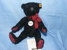 Steiff Classique Teddy Bear Matti ours noir avec écharpe 22 cm 027253 BRAND NEW