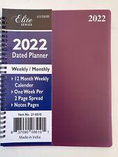 2022 Weeklymonthly Planner Appointment Agenda Organizer 8x10 Spiral Burgundy