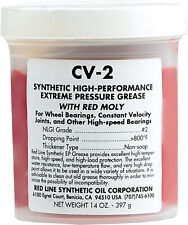 RED LINE CV-2 SYNTHETIC GREASE W/MOLY 14OZ JAR  80401