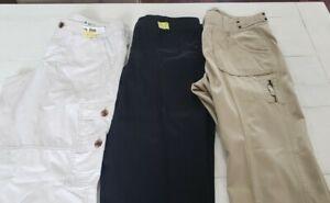 Womens Lot Of 3 Pair Of Cargo Crop Pants Loft And Eddie Bauer Sz 6