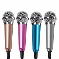 Cell Phone Portable Singing Mic Wired Stereo Mini Pocket Karaoke Microphone HOT!