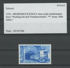 SWITZERLAND SPECIMEN 1950 ESSAY TRIAL TEST PRINT PROOF GOTHARD TRAIN (m2153