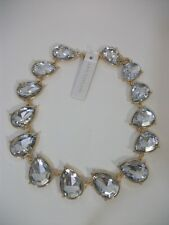 Ann Taylor Large Crystal Pave Short STATEMENT Necklace NWT $69.99