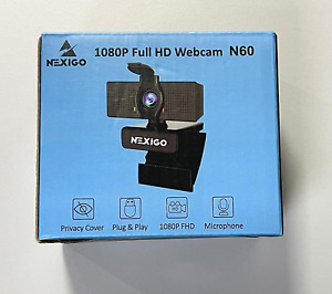 1080P Business Webcam with Microphone and Privacy Cover, 2021 NexiGo N60 USB HD