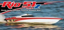 AquaCraft Rio 51Z Off-Shore 2.4 Zenoah R/C Gas Boat With Zenoah G260PUM AQUB42