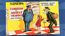 A Bamforth Comic Postcard 1970s MUSEUM EXHIBITION OF ANCIENT WEAPONS No 485