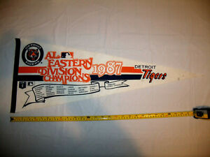 Detroit Tigers 1987 A.L. Eastern Division Champions Full Size Roster Pennant