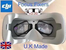 Lentes de enfoque DJI Gafas fijación +3.00 aumentos con 3D Impreso Marcos.