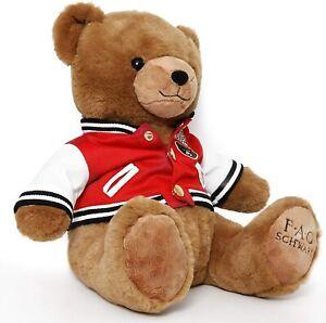 FAO Schwarz 1862 Varsity Jacket Anniversary Soft Plush Teddy Bear Toy 12 Inches