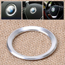 Silver For BMW 1 3 4 5 7 Series X1 X3 X5 X6 Car Steering Wheel Center Ring Cover