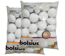 Bolsius White Floating Candles - Pack of 40