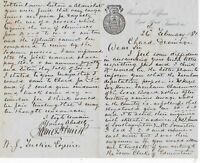 Municipal Offices East Str Taunton 1881 Re Chard Drainage Cost Letter Ref 35774