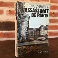 Louis Caballero Das Attentat (Alemán) De París Calmann-Lévy 1977