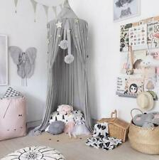 Grey Mosquito Net Bedding Cover Canopy Princess Bed Hanging Dome Netting Mesh