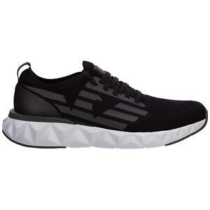 Emporio Armani EA7 sneakers men X8X048XK113N398 Black logo detail rubber shoes