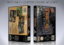 TUROK 2. PAL ENGLISH. Box/Case. Nintendo 64. BOX + COVER. (NO GAME).