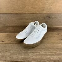 NIB Vans Old Skool True White Low Canvas Classic Skate Sneaker Men's Size 11.5
