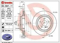 Disc Brake Rotor-Premium UV Coated OE Equivalent Rotor Rear Brembo 09.C941.11